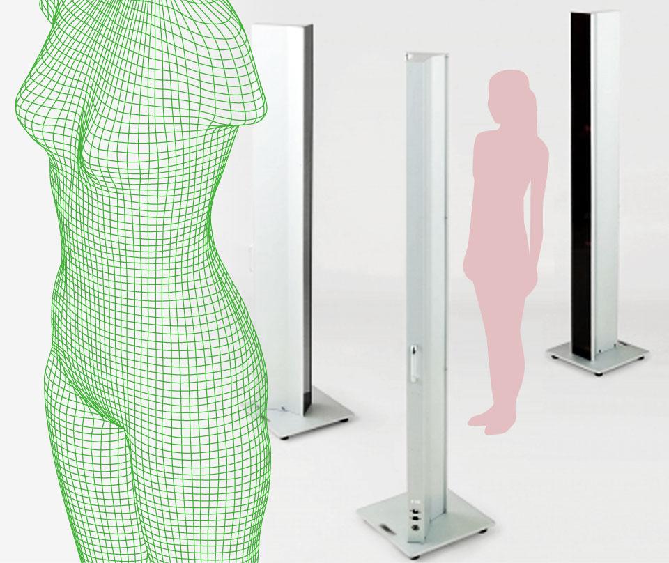 通过能够细致分析每个人体型的3D扫描仪 能够更加客观的了解自己