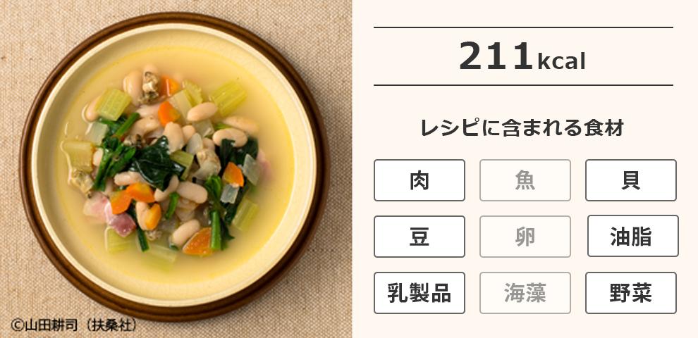 白インゲン豆のミネストローネ