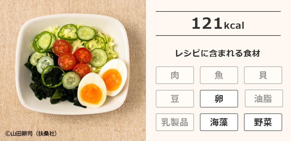 わかめとゆで卵のサラダ